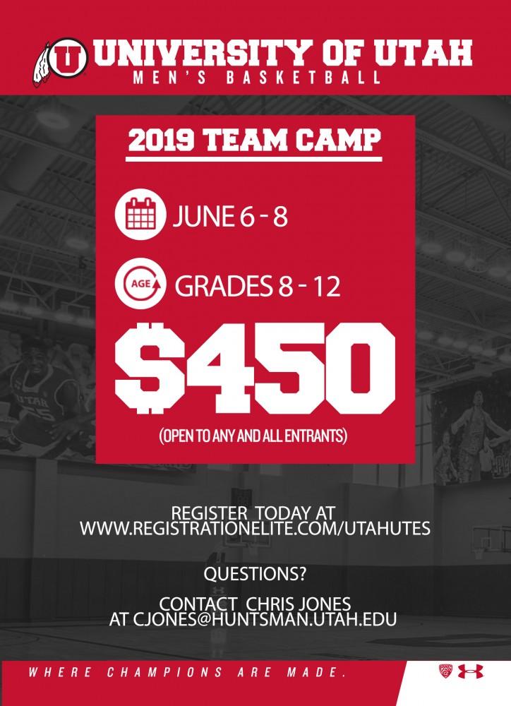 Team Camp Reservation 2019 - University of Utah Men's
